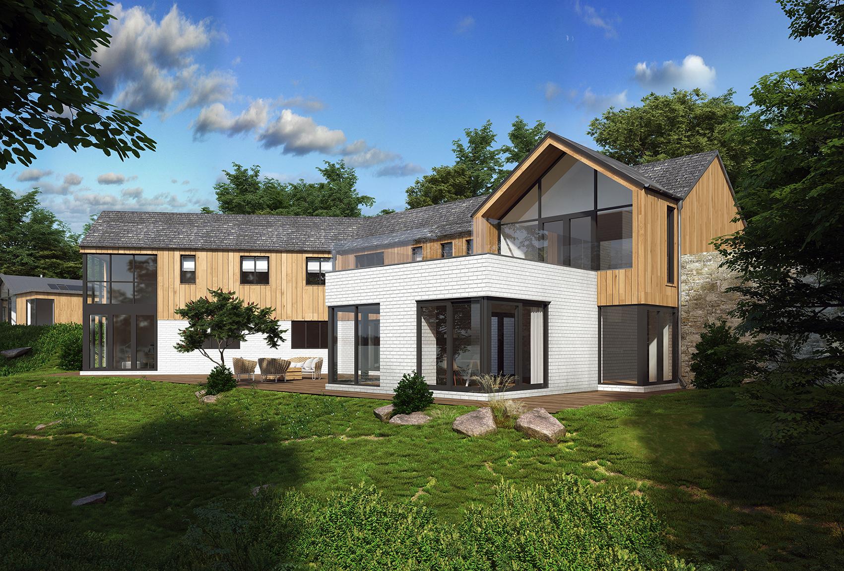 3д визуализация Варна къща