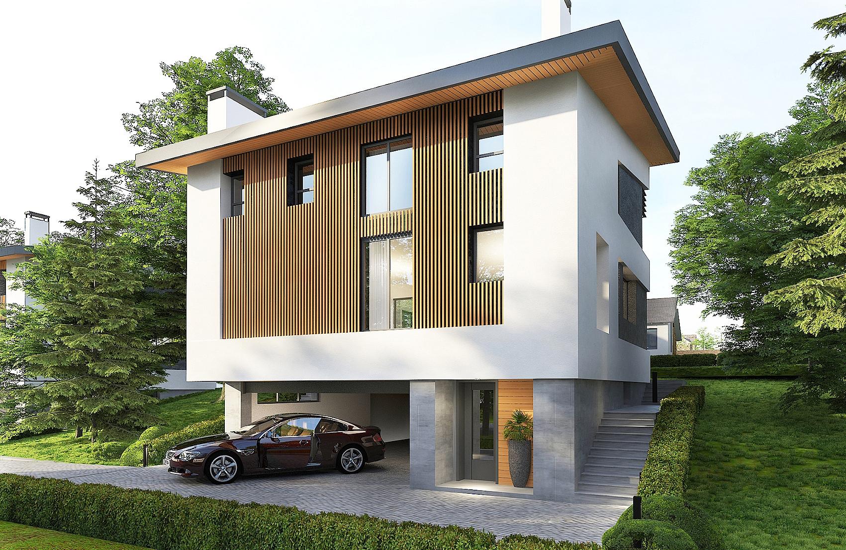 3д визуализация къща Варна