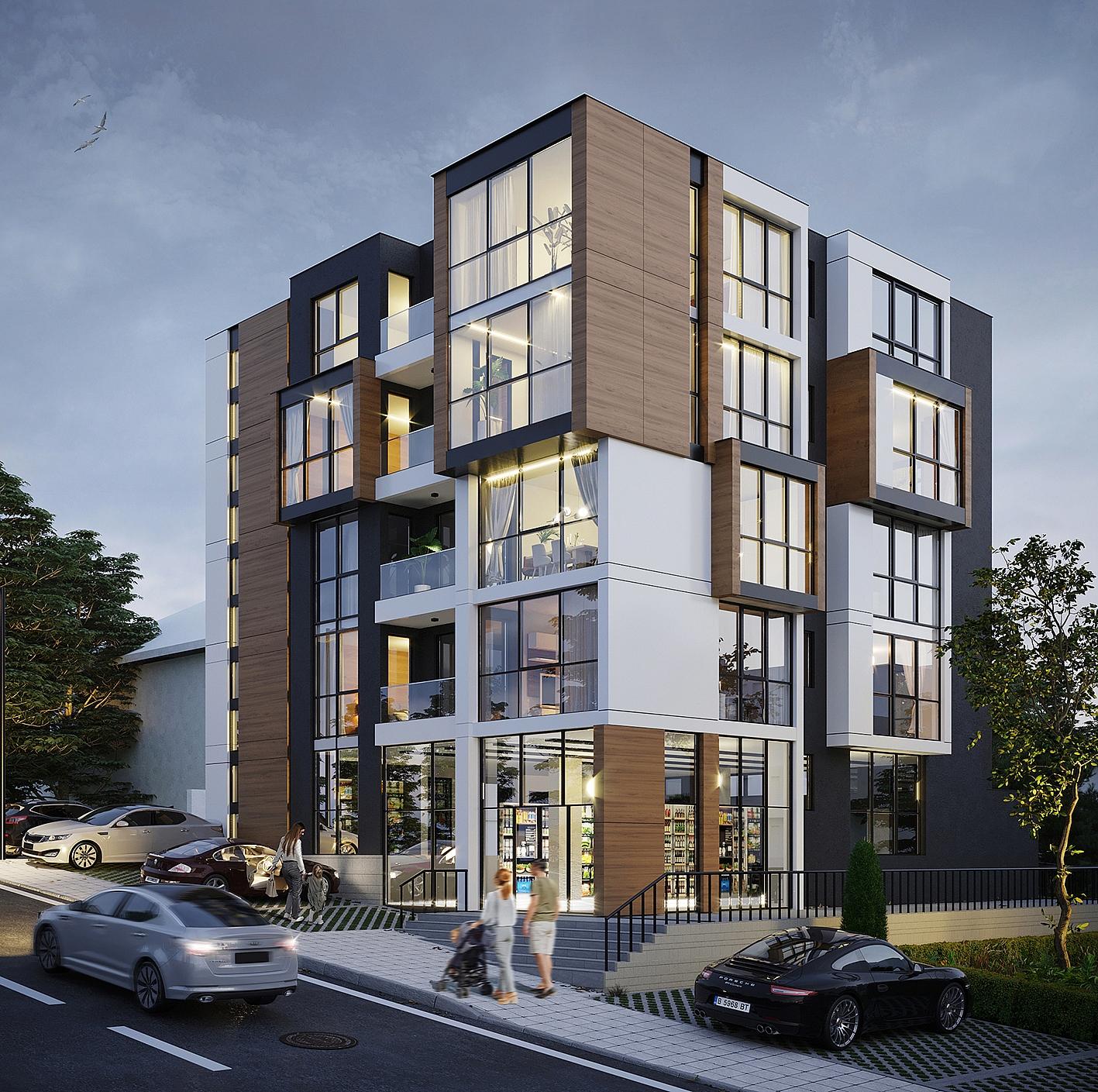 3д визуализация жилищна сграда варна